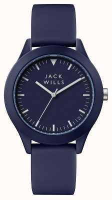 Jack Wills Cinturino in silicone blu con quadrante blu JW009BLBL