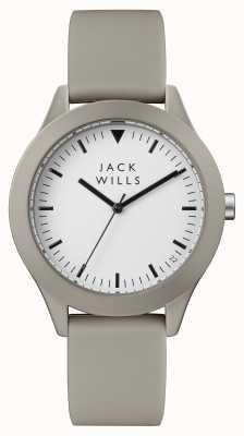Jack Wills Cinturino in silicone grigio con quadrante bianco JW009WHGY