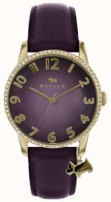 Radley Orologio da donna viola con cassa in oro RY2726