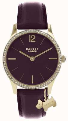 Radley Orologio da donna con cinturino in pelle viola color oro RY2708