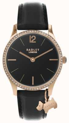 Radley Orologio da donna in raso nero RY2704