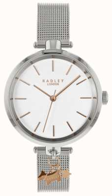 Radley Orologio da donna in maglia argento RY4363