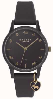Radley Orologio da donna in silicone viola con indici oro pallido RY2696