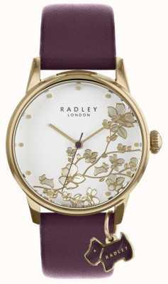 Radley Orologio da donna con cinturino in pelle floreale viola RY2688