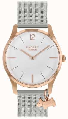 Radley Orologio da donna | cassa in oro rosa | cinturino in maglia di acciaio inossidabile RY4355