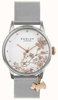 Radley Orologio da donna con cinturino in maglia d'argento quadrante bianco RY4347