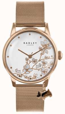 Radley Orologio da donna con cinturino in maglia di acciaio inossidabile placcato oro rosa RY4348