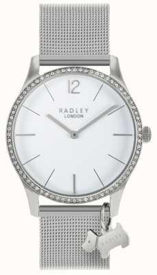 Radley Quadrante bianco con cristalli Swarovski da donna RY4353