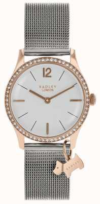 Radley Quadrante bianco argento con cristalli Swarovski da donna RY4351