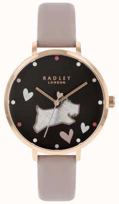 Radley Quadrante nero per cani con grande madreperla RY2678