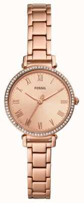 Fossil | delle donne | Kinsey | set di cristalli | orologio tono oro rosa | ES4447