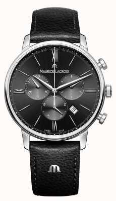 Maurice Lacroix Eliros cronografo quadrante nero da uomo EL1098-SS001-310-1