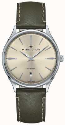 Hamilton Jazzmaster thinline automatico verde oliva H38525811