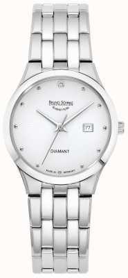 Bruno Sohnle Womens florenz | quadrante bianco | bracciale in acciaio inossidabile 17-13197-252