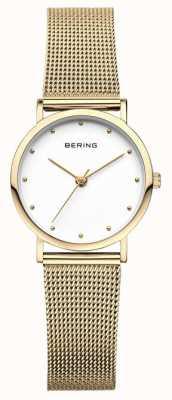 Bering Orologio classico da donna con maglia dorata 13426-334