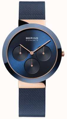 Bering Ceramica | cassa in oro rosa lucido | quadrante blu 35036-367