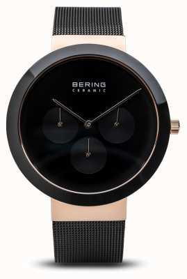 Bering Ceramica | cassa in oro rosa lucido | quadrante nero 35040-166
