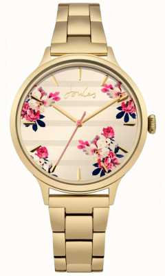 Joules Quadrante floreale con placca in oro placcato pvd color flora JSL002GM