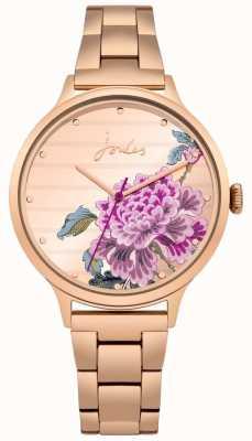 Joules Quadrante floreale con cinturino in pvd color oro rosa JSL002RGM