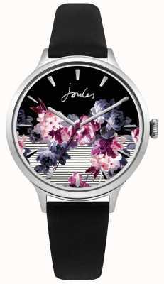 Joules Quadrante viola multicolore con cinturino in pelle nera joule da donna JSL002B