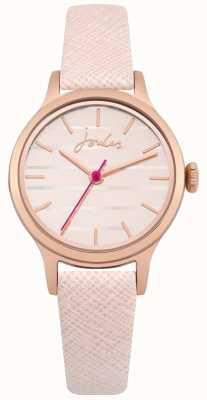 Joules Quadrante in oro rosa con cinturino in pelle rosa lisbeth JSL012PRG