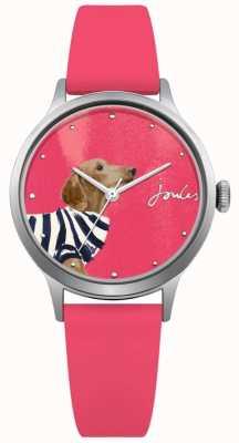 Joules Quadrante rosa con cinturino in silicone rosa da donna JSL010P