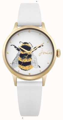 Joules Cinturino in silicone bianco da donna con quadrante bianco con ape JSL010WRG