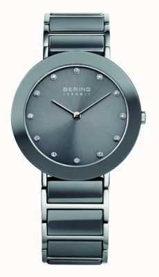 Bering Quadrante grigio cinturino in acciaio inossidabile con quadrante grigio 11435-789