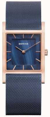 Bering Bracciale in maglia blu con quadrante in madreperla blu 10426-367-S