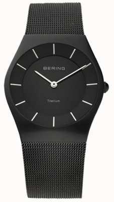 Bering Maglia da uomo in acciaio inossidabile classico nero 11935-222
