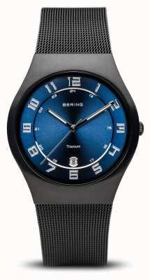 Bering Titanio | quadrante blu nero spazzolato 11937-227