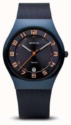 Bering Titanio | spazzolato blu 11937-393