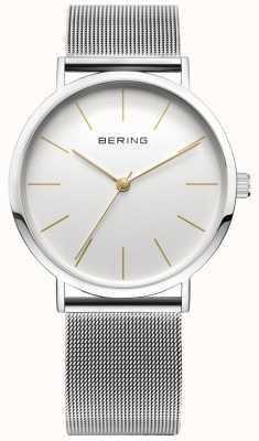 Bering Orologio da collezione classico con cinturino in rete e resistente ai graffi 13436-001