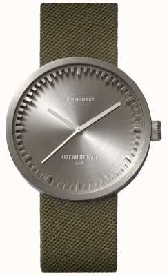 Leff Amsterdam Cinturino in cinturino d38 cordura acciaio con cinturino verde LT71004