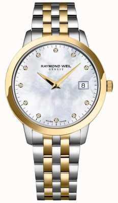 Raymond Weil Bracciale donna a due quadranti con quadrante diamantato 5388-STP-97081