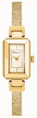 Thomas Sabo Bracciale da donna in acciaio inossidabile giallo / oro, quadrante in oro WA0331-246-207-23