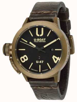 U-Boat Cinturino in pelle marrone automatico classico u-47 color bronzo 7797