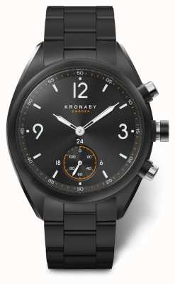 Kronaby Mens apex 41 bluetooth quadrante nero in acciaio inossidabile a1000-3115 S3115/1