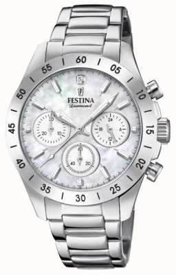 Festina Bracciale cronografo da donna con cinturino in acciaio inossidabile F20397/1