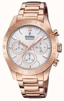 Festina Pvd da donna in oro rosa cronografo fidanzato F20399/1