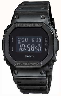Casio Cinturino in resina quadrante black-out g-shock da uomo DW-5600BB-1ER