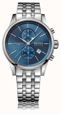 Hugo Boss Quadrante blu con cinturino in acciaio inossidabile jet crono 1513384