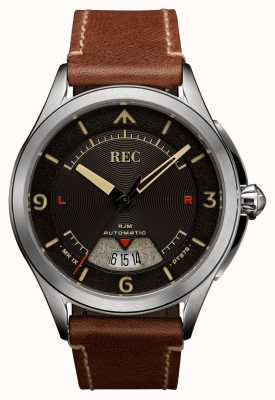 REC Cinturino automatico in pelle marrone Spitfire RJM-02