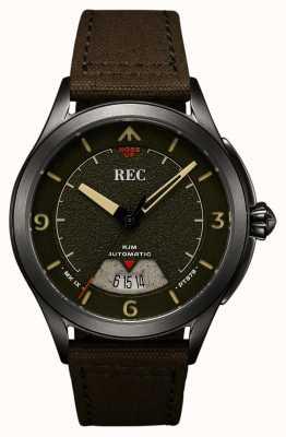REC | pt879 mk ix spitfire | tracolla in tela | orologio automatico | RJM-03
