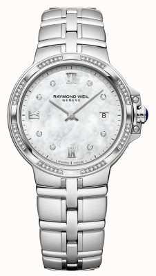 Raymond Weil Classico al quarzo da donna Parsifal | 56 diamanti | madreperla 5180-STS-00995