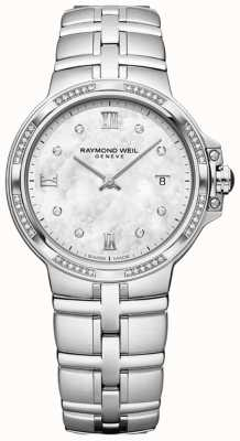 Raymond Weil Quarzo classico da donna Parsifal | 56 diamanti | madreperla 5180-STS-00995