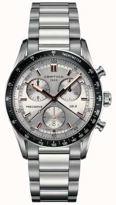 Certina Mens ds-2 | cronografo precidrive | quadrante argento | C0244471103101