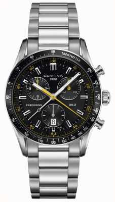 Certina Mens ds-2 | cronografo precidrive | quadrante nero / giallo C0244471105101