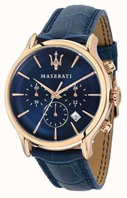 Maserati Mens epoca 42mm | quadrante blu | cinturino in pelle blu R8871618007