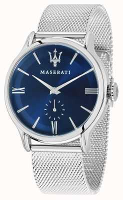 Maserati Mens epoca 42mm | quadrante blu | bracciale in maglia d'argento R8853118006